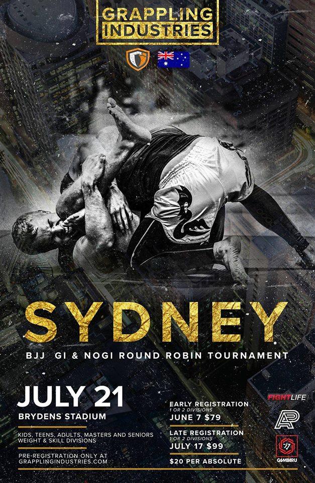 Grappling Industries Sydney - BJJ July 21 - Fight Calendar