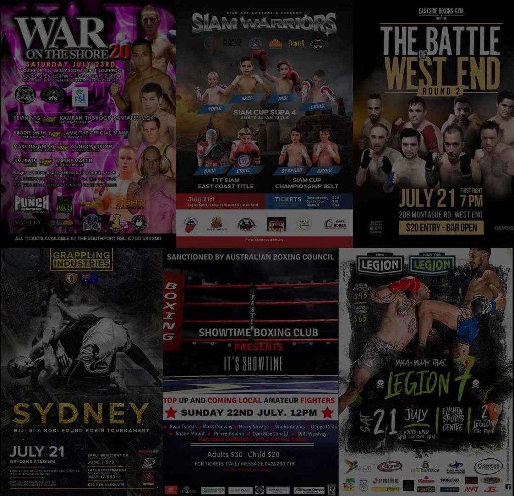 Fight Shows 21-23 July 2018